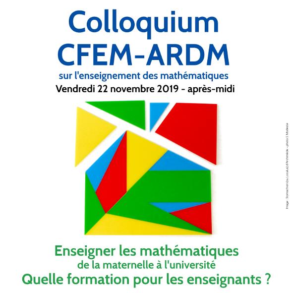 Colloquium CFEM-ARDM : annonce, affiche et diffusion